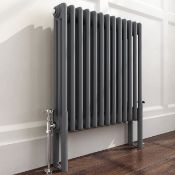 600x600mm Anthracite Double Panel Horizontal Colosseum Traditional Radiator. RRP £469.99. Rc...