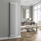 New 1884x437mm White Double Panel Vertical Colosseum Radiator, 6 Section. RRP £449.99. Made ...