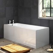New (W4) 1700x700mm Round Single Ended Bath With Panel. RRP £299.99. Length: 1700mm. No Ta...