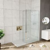 New (W12) 800x300mm - 8mm - Premium Easy clean Wet room And Rotatable Panel. RRP £399.99. 8mm ...