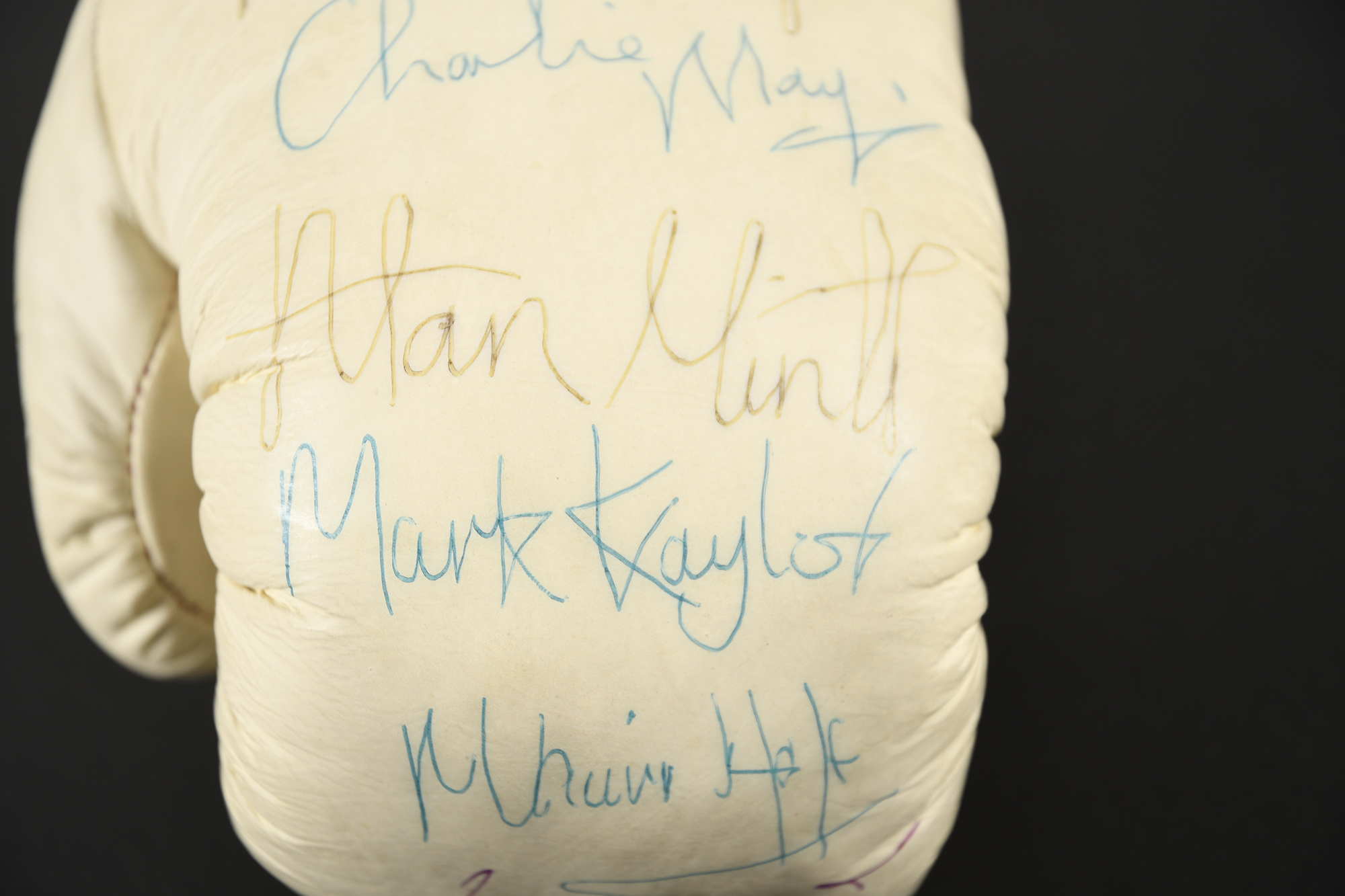 TITLE BOXING GLOVE Original signatures on glove - Image 2 of 4