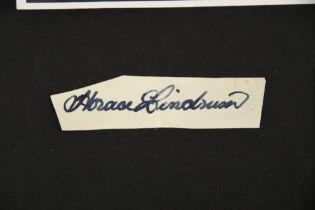 JOE DAVIS & LINDRUM BROTHERS Original signatures
