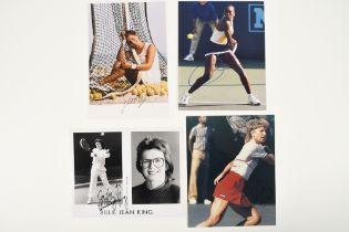 BILLY JEAN KING, CHRISSIE EVERT & MONICA SELES Original signatures
