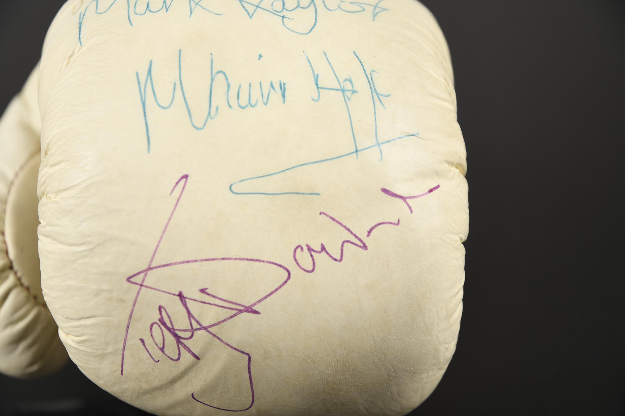 TITLE BOXING GLOVE Original signatures on glove