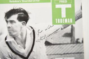IAN BOTHAM, GRAHAM GOOCH, TRUEMAN & SMITH Original signatures
