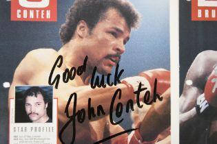 FRANK BRUNO, JOHN CONTEH & CHARLIE MAGRI Original signatures