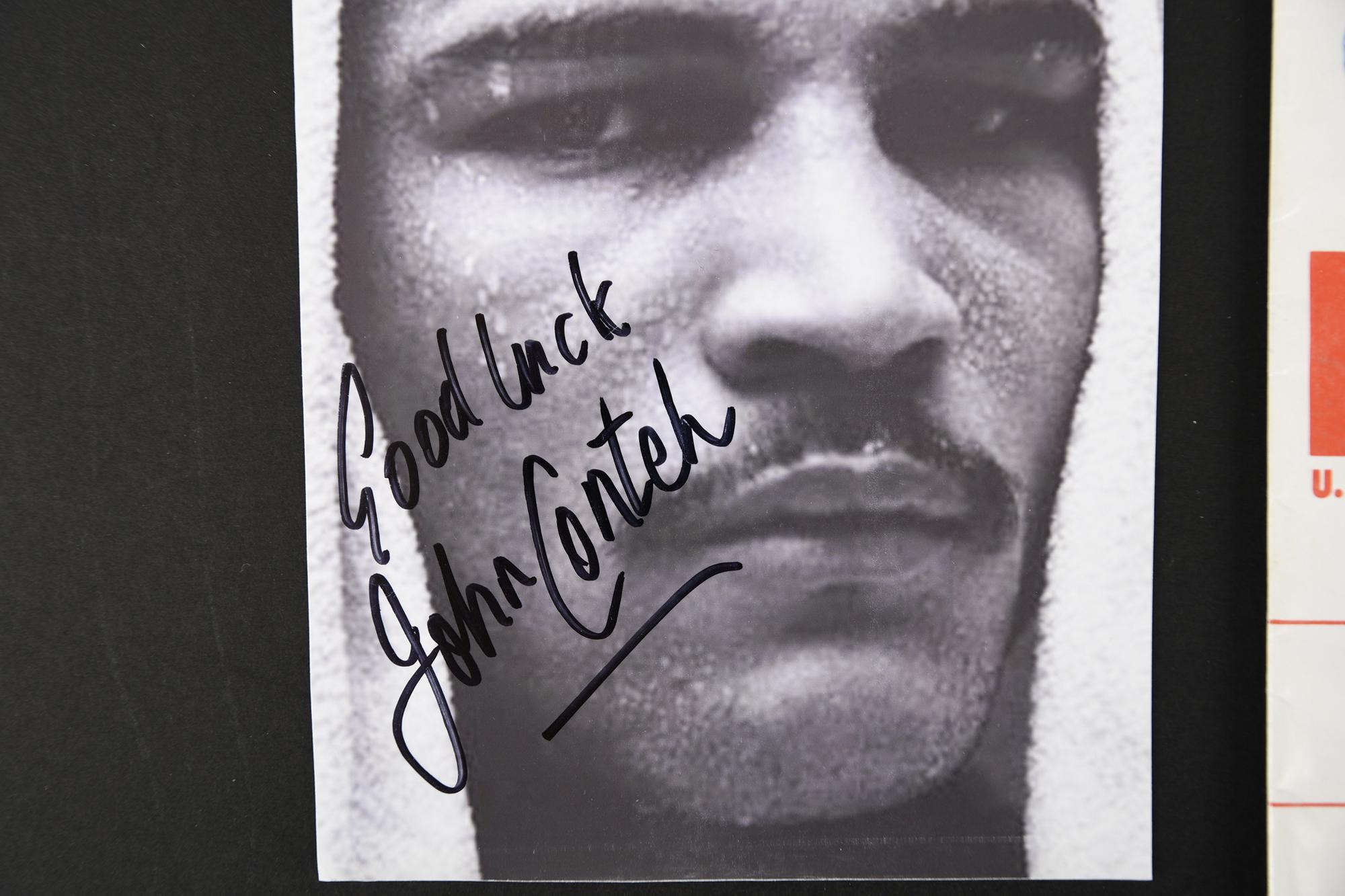 JOHN CONTEH Original signature on photo. - Image 2 of 3