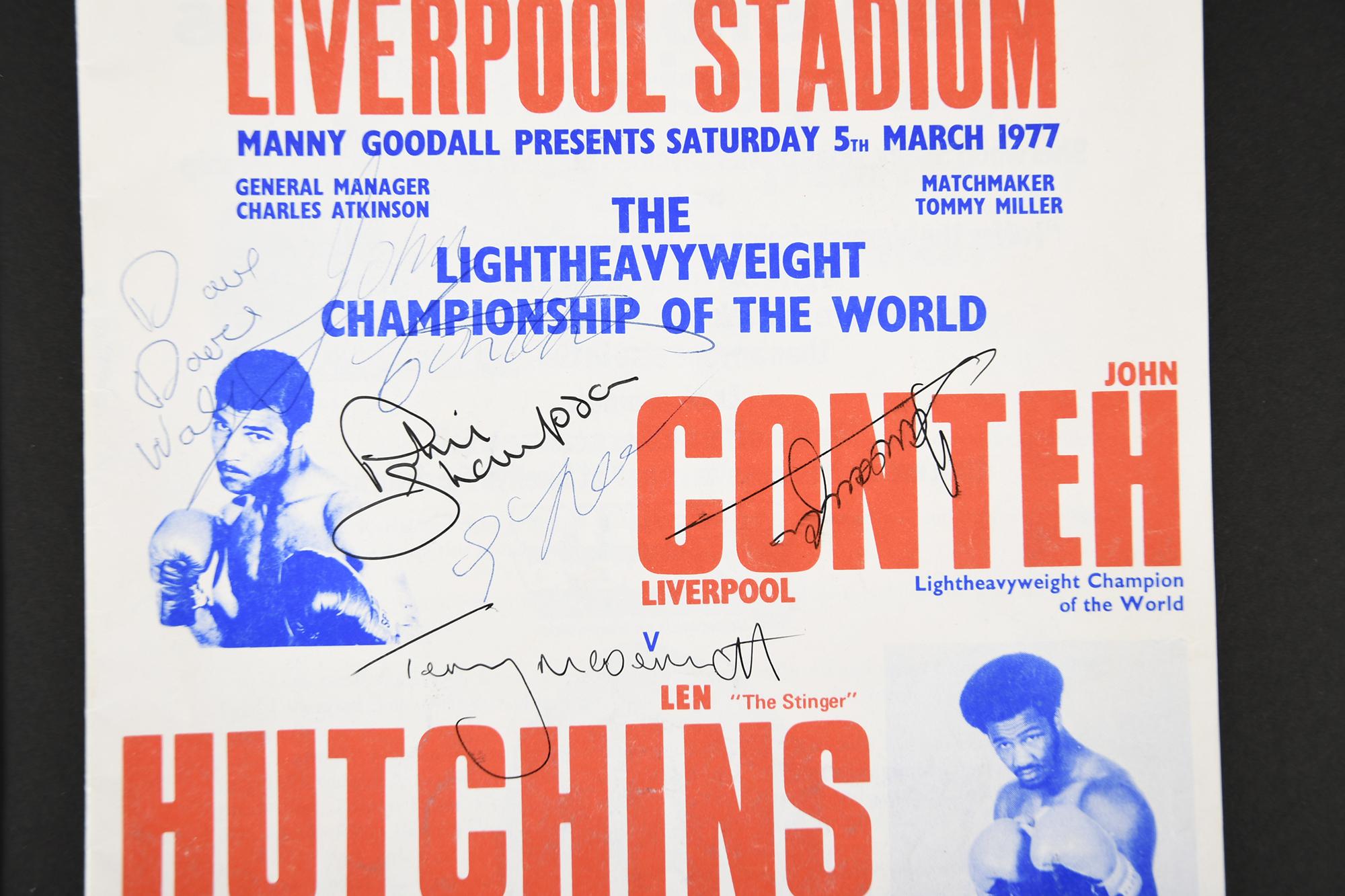 JOHN CONTEH Original signature on photo.