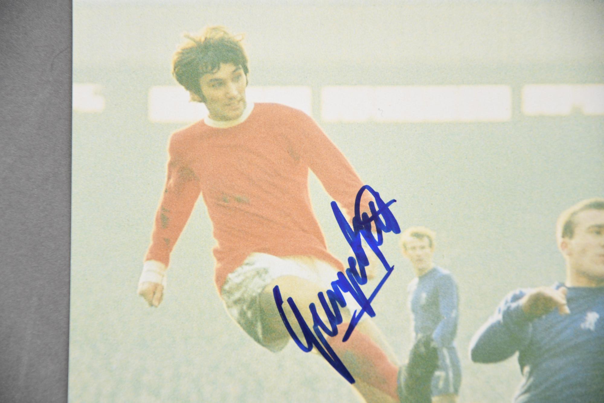 "GEORGE BEST (1946 - 2005) v ""CHOPPER"" HARRIS (1944 - ) Original signatures on photo. - Image 3 of 3"