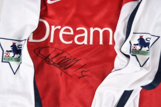 THIERRY HENRY Signed match strip.