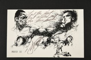 JOE FRAZIER Original signature