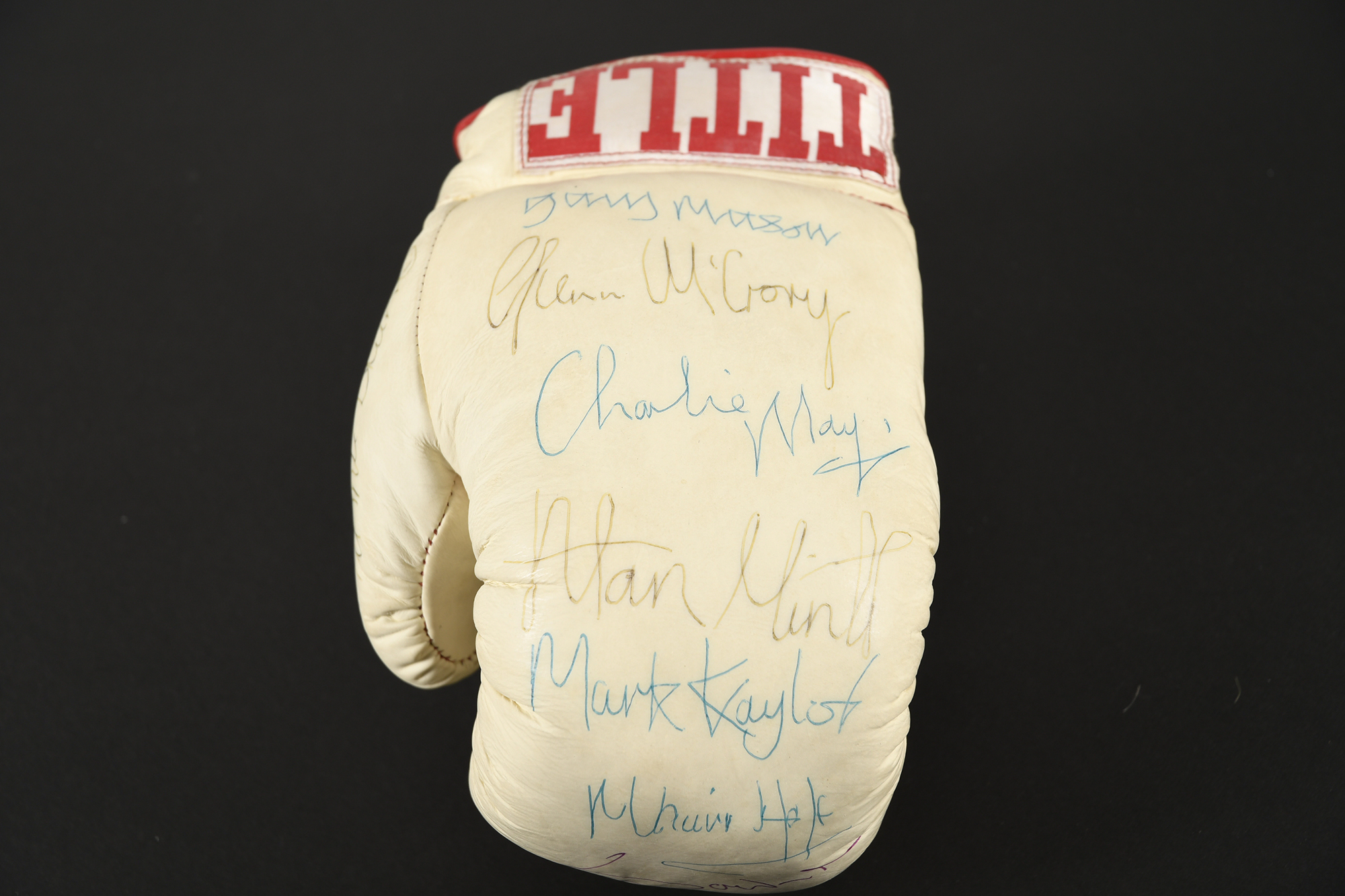 TITLE BOXING GLOVE Original signatures on glove - Image 4 of 4