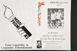 GEORGE BEST & DENIS LAW Original signatures