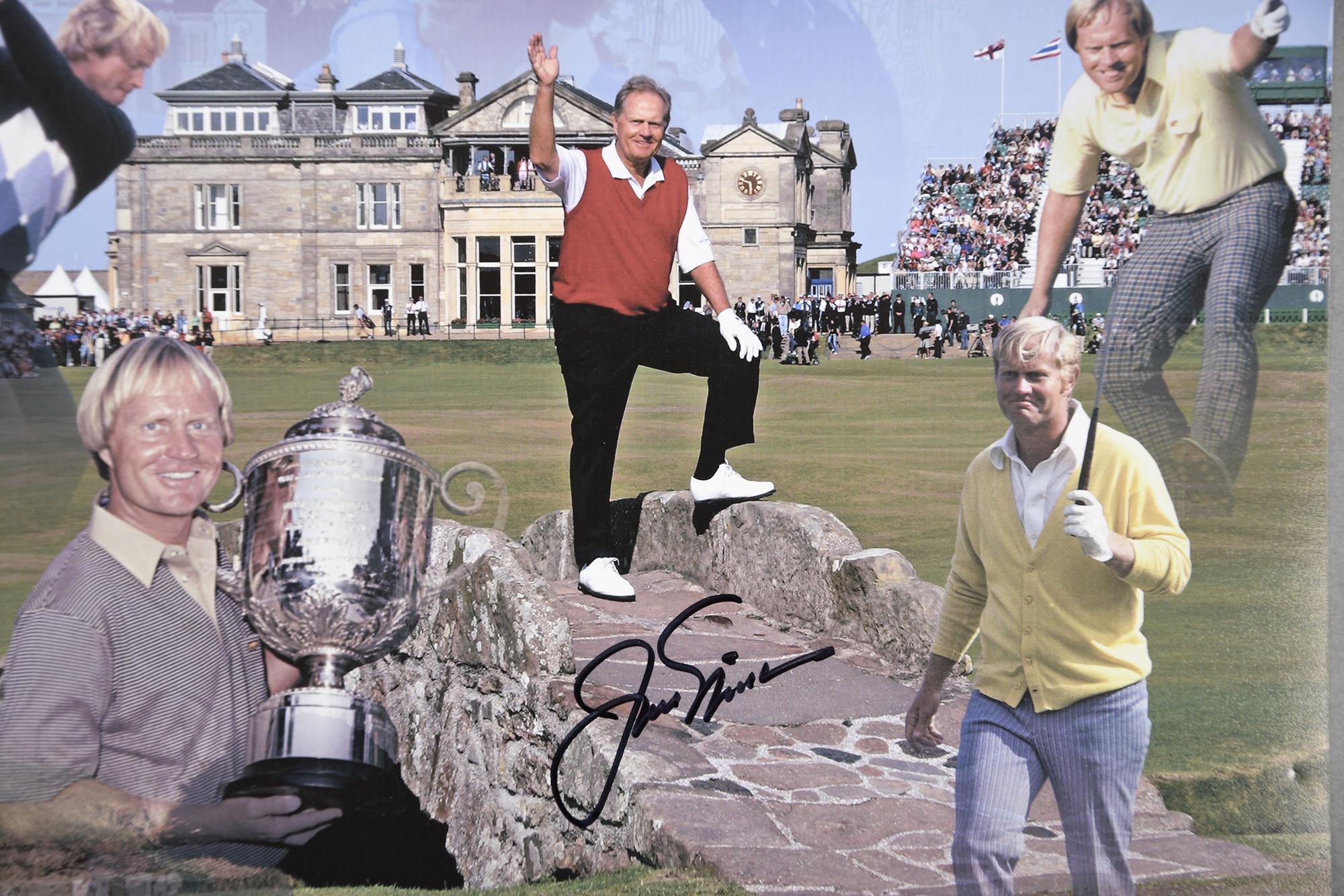 JACK NICKLAUS, GARY PLAYER & ARNOLD PALMER Original signatures.