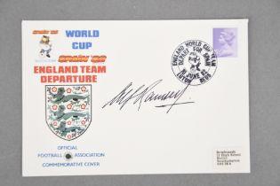 ALF RAMSEY (1920 - 1999) Original signature on WORLD CUP cover.