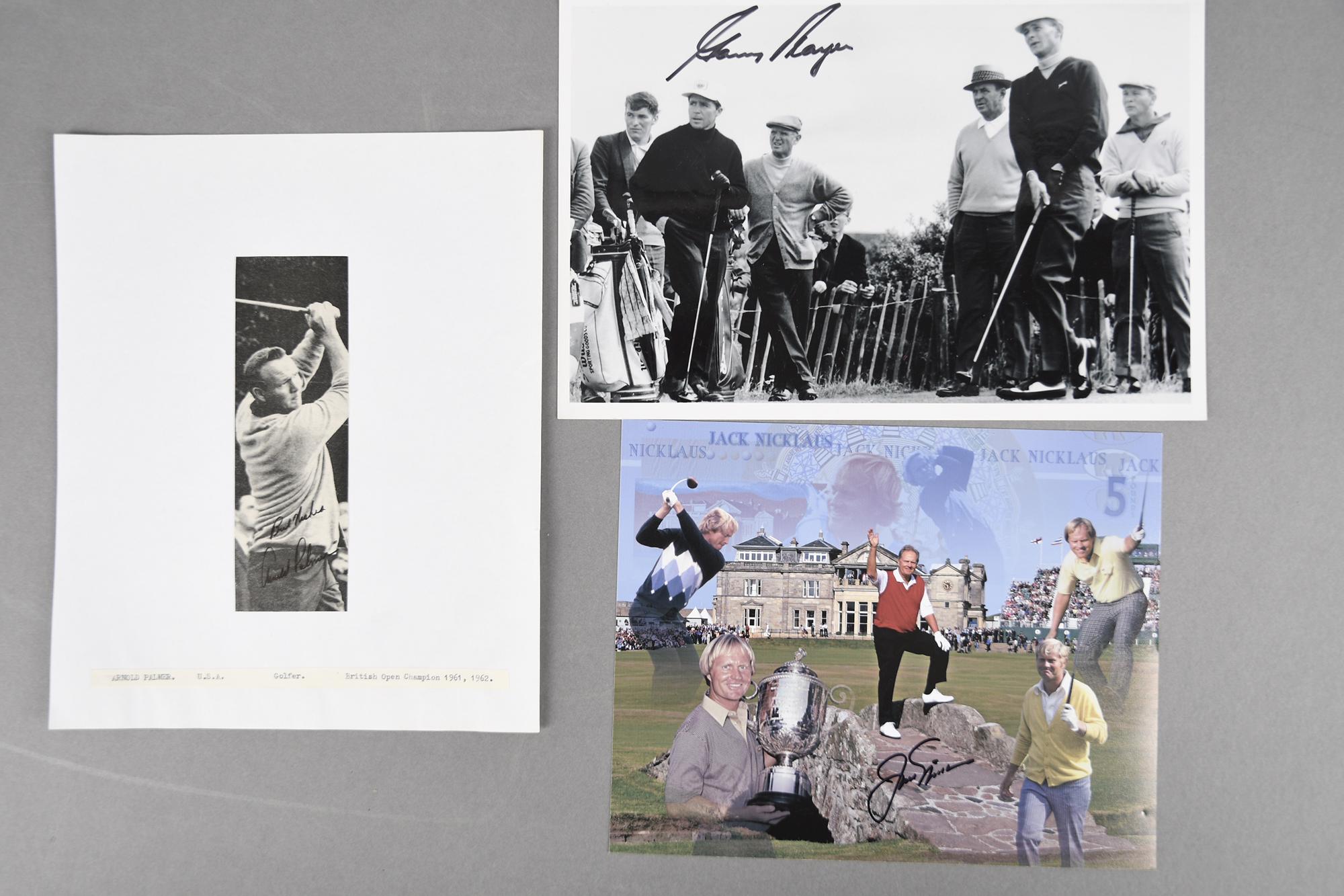 JACK NICKLAUS, GARY PLAYER & ARNOLD PALMER Original signatures. - Image 3 of 4