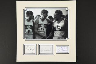 ROGER BANNISTER (1929 - 2018), CHRIS BRASHER (1928-2003) & CHRIS CHATAWAY (1931 - 2014)