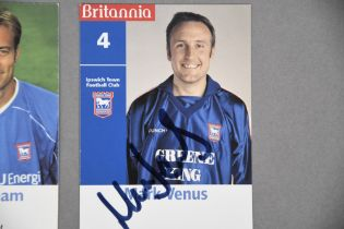 IPSWICH TOWN FC Selection of signed photo cards.