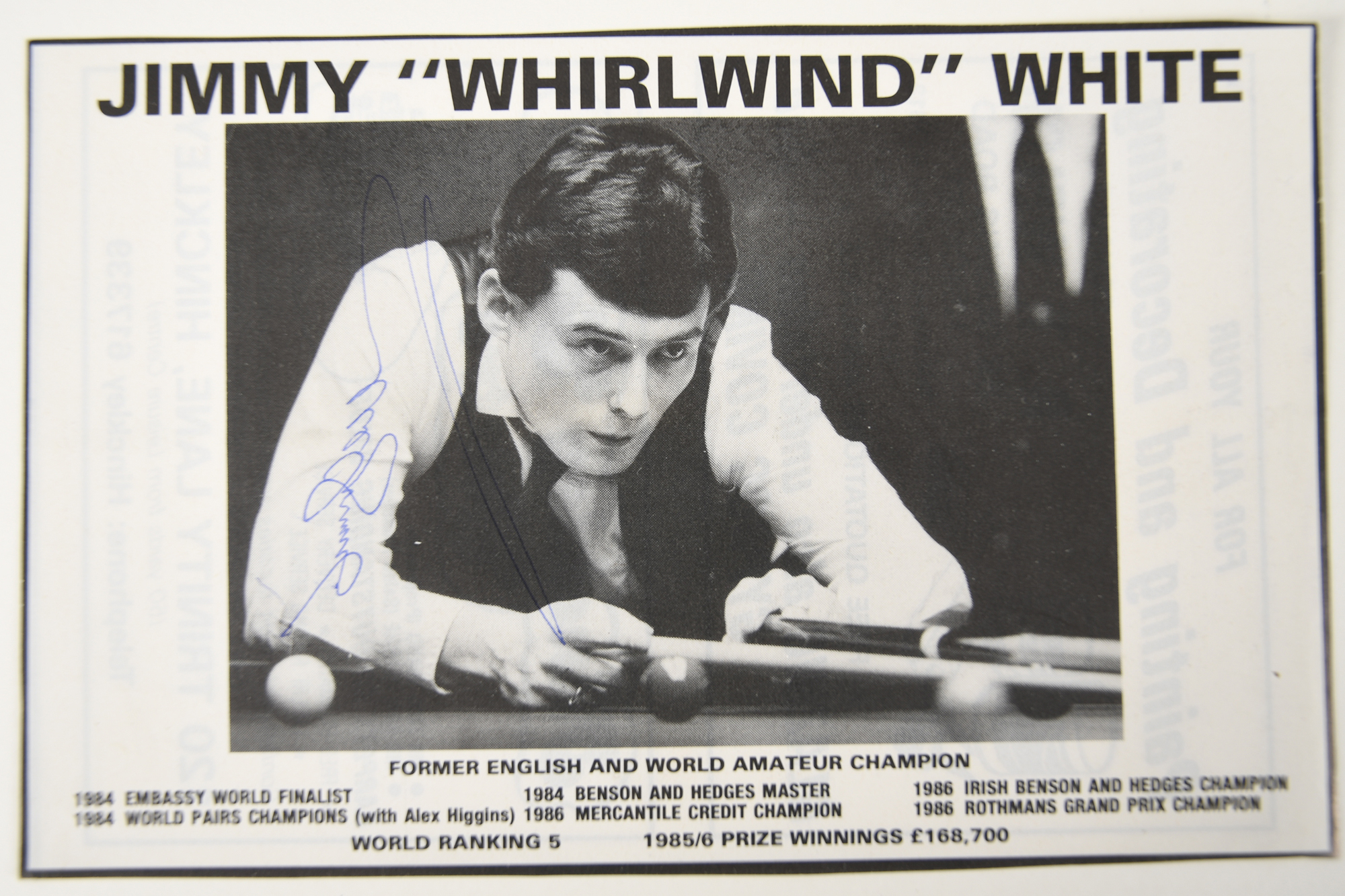 STEPHEN HENDRY, JIMMY WHITE & CLIFF THORBURN - Image 3 of 4