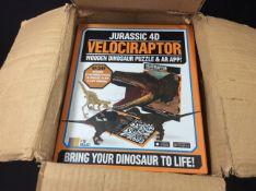 Box of jurassic 4d velociraptor puzzles