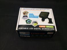 Portable lcd digital microscope