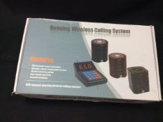 Queuing wireless calling system