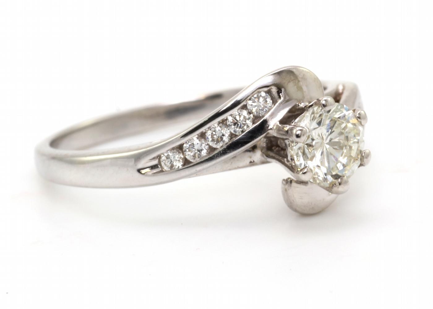 18k White Gold Single Stone Diamond Ring 0.65 Carats - Image 4 of 4
