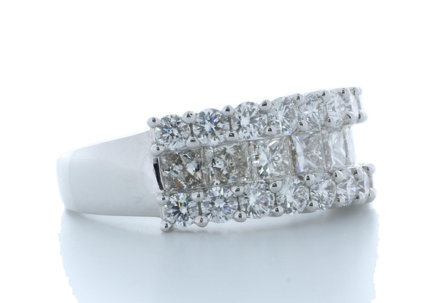 18k White Gold Claw Set Semi Eternity Diamond Ring 2.43 Carats - Image 4 of 4