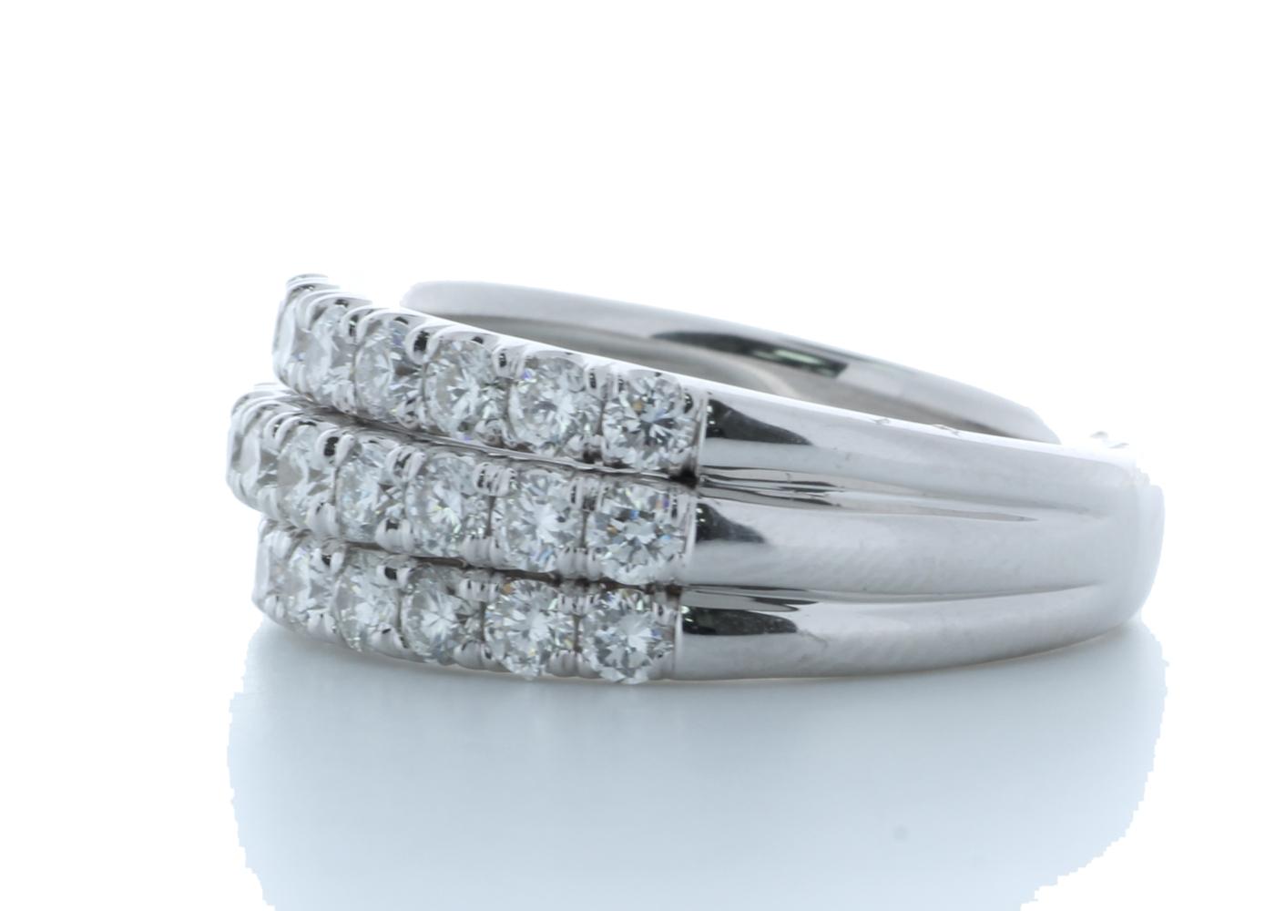 18k White Gold Channel Set Semi Eternity Diamond Ring 1.61 Carats - Image 2 of 4