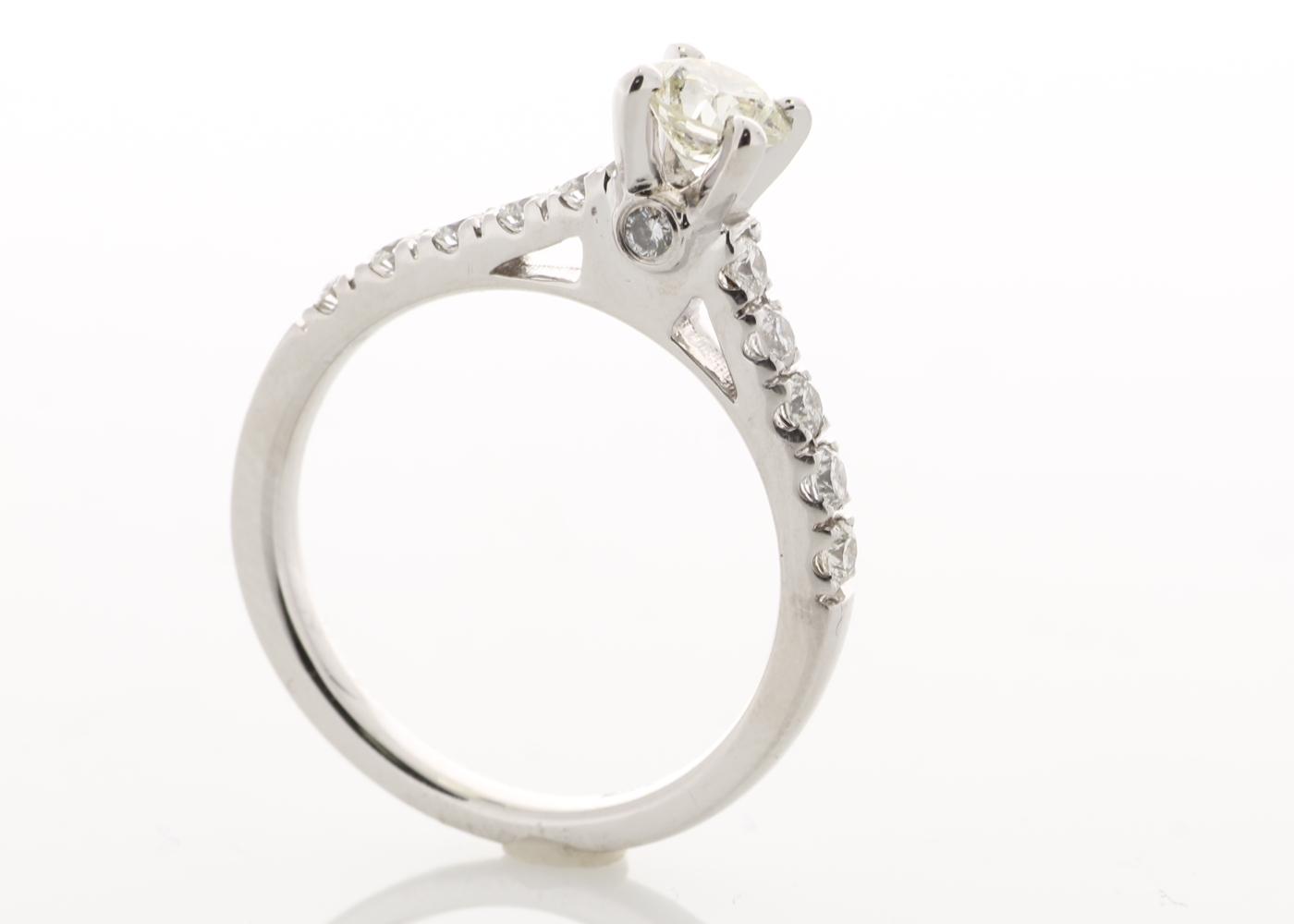 18k White Gold Stone Set Shoulders Diamond Ring 0.91 Carats - Image 2 of 5