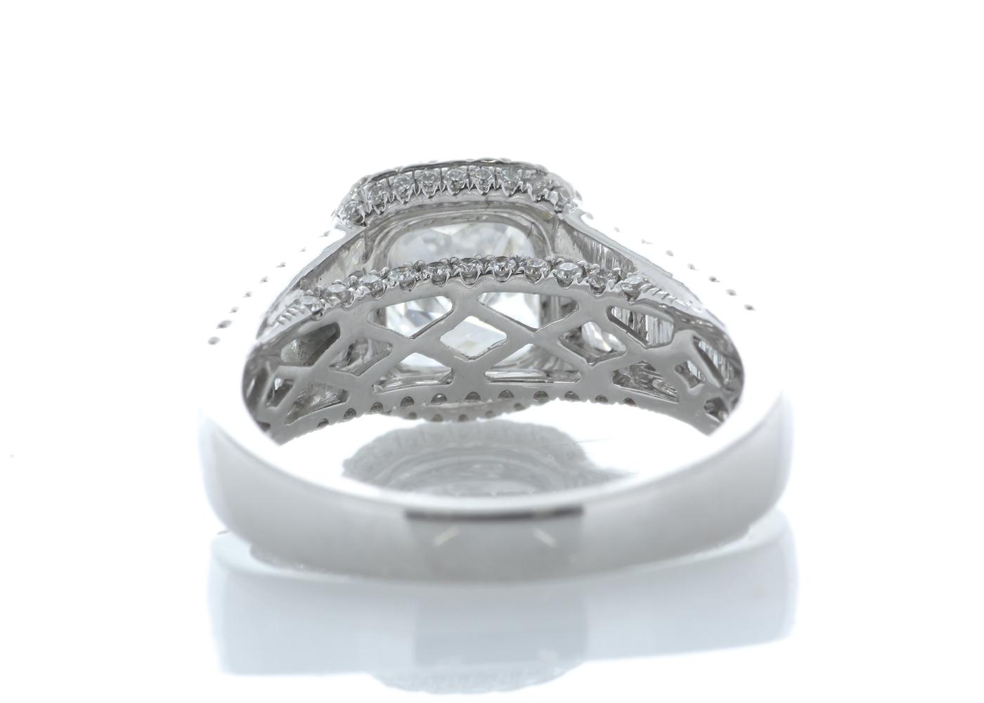 18k White Gold Halo Set Ring 3.14 Carats - Image 3 of 5