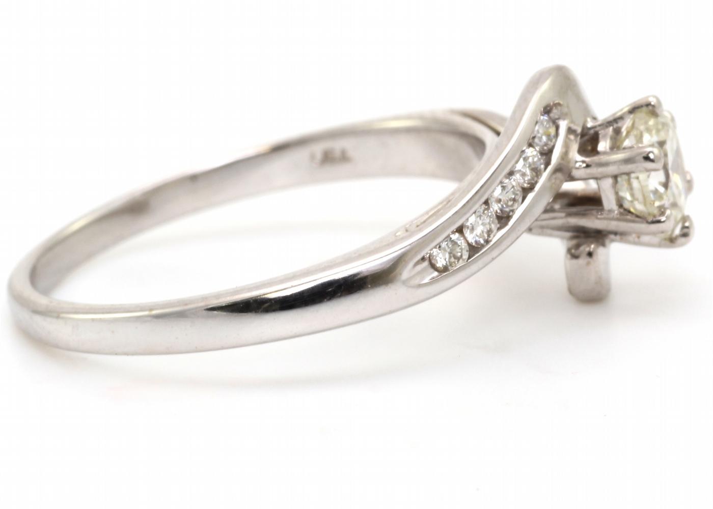 18k White Gold Single Stone Diamond Ring 0.65 Carats - Image 3 of 4
