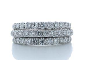18k White Gold Channel Set Semi Eternity Diamond Ring 1.61 Carats