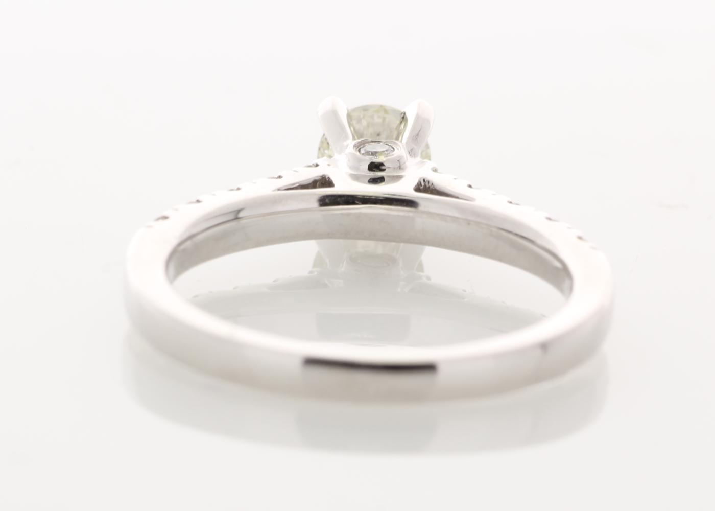 18k White Gold Stone Set Shoulders Diamond Ring 0.91 Carats - Image 4 of 5