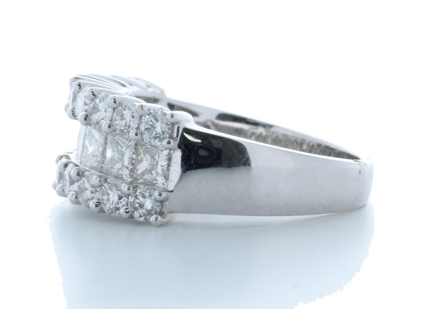 18k White Gold Claw Set Semi Eternity Diamond Ring 2.43 Carats - Image 2 of 4