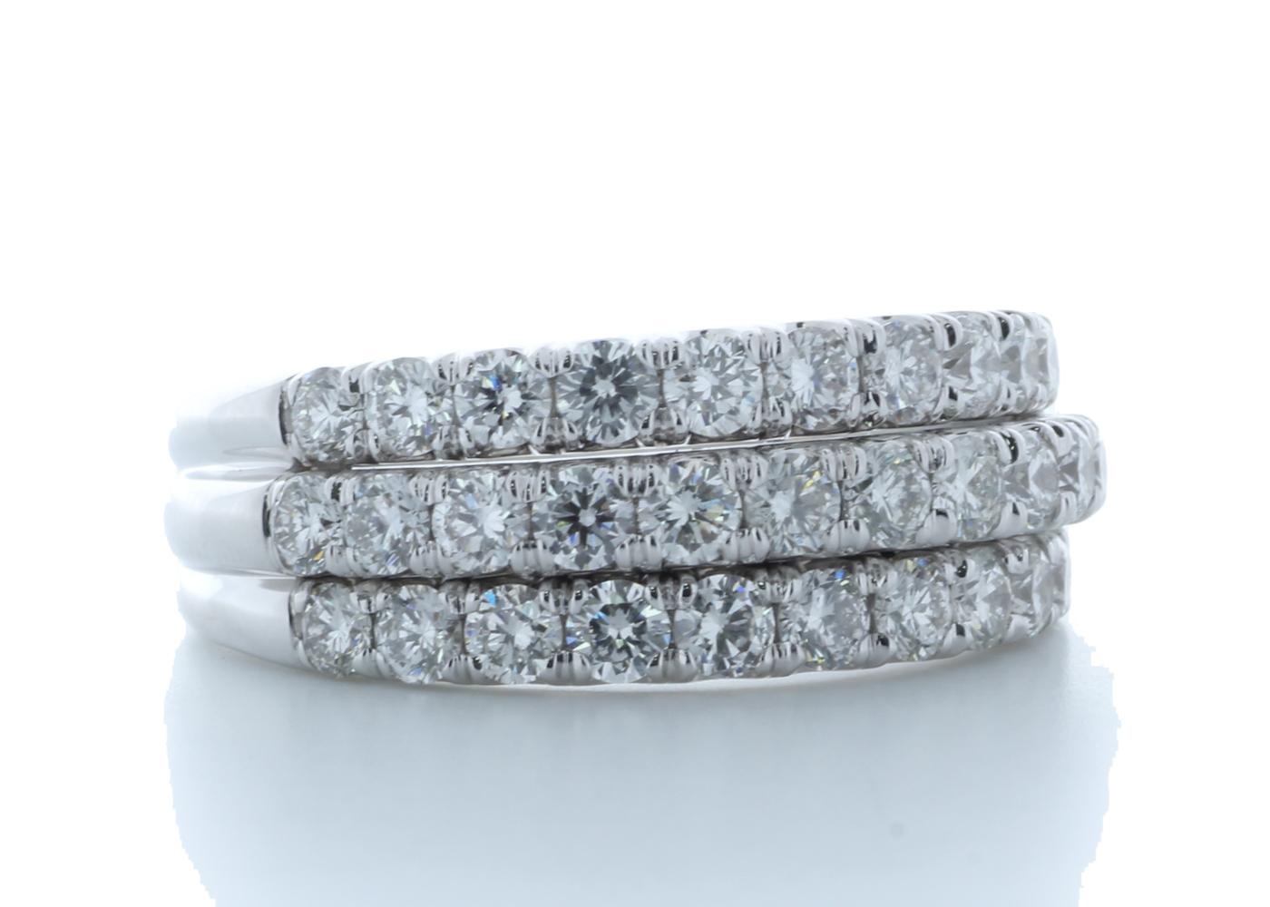 18k White Gold Channel Set Semi Eternity Diamond Ring 1.61 Carats - Image 4 of 4