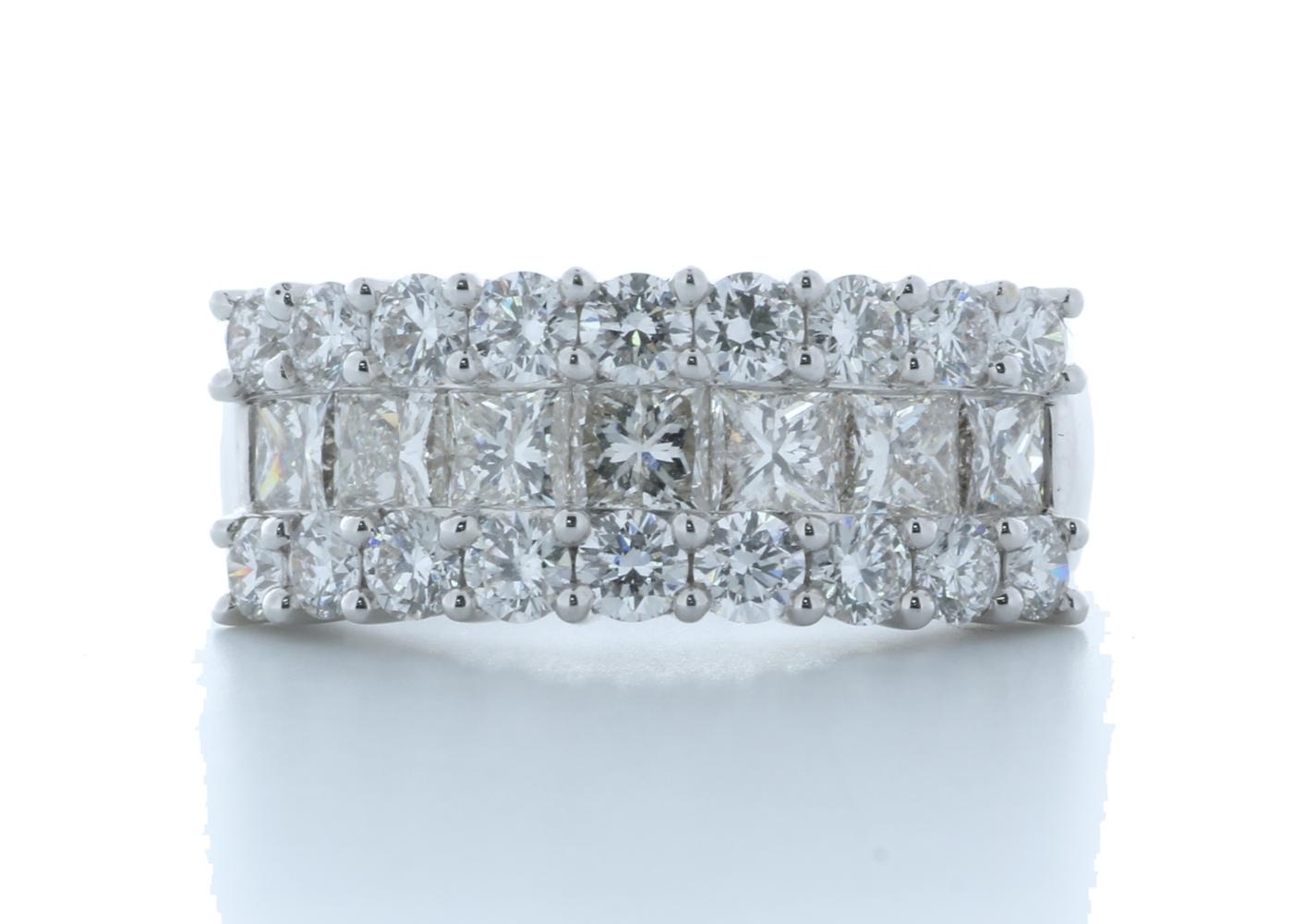 18k White Gold Claw Set Semi Eternity Diamond Ring 2.43 Carats