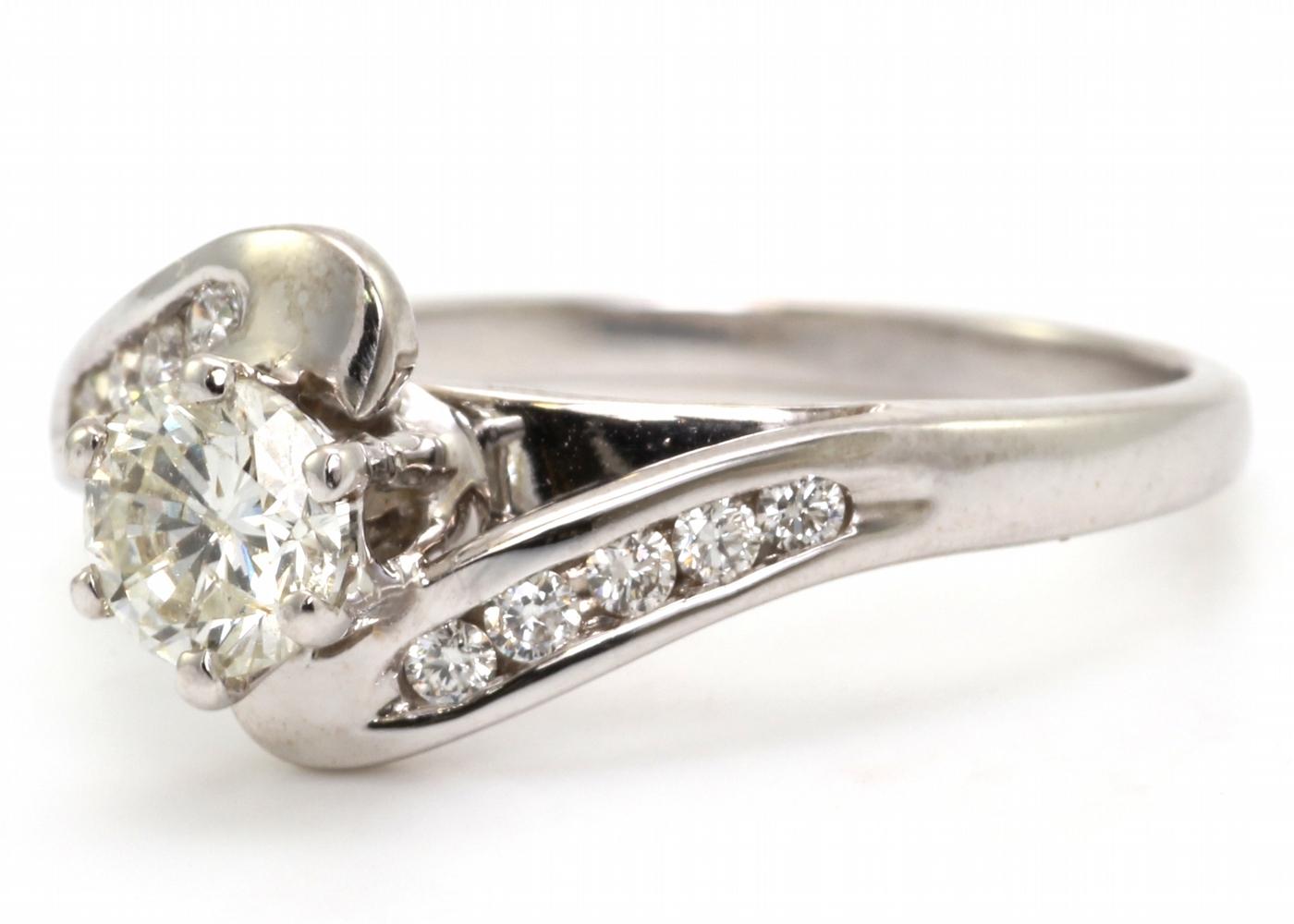 18k White Gold Single Stone Diamond Ring 0.65 Carats - Image 2 of 4