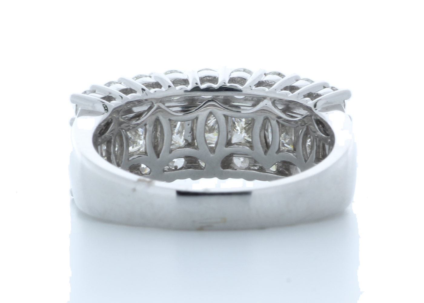 18k White Gold Claw Set Semi Eternity Diamond Ring 2.43 Carats - Image 3 of 4