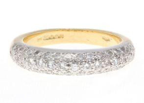 18k Wedding Band Diamond Ring 1.58 Carats