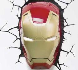 (R3A) 4x Marvel Avengers 3D Deco Light. 1x Iron Man Mask. 1x Spiderman Mask. 1x Hulk Right Fist. 1x