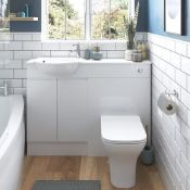 New (Y61) 600mm 2 Door Full Depth Base Unit - White Gloss. Soft Close Fittings Durable 18mm ...