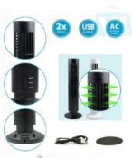 Brand New Portable Usb Tower Fan Cooling Bladeless 2 Speed Air Conditioner Pc Laptop Desk