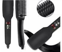 Brand New Ptc Hair Straightening Heating Ionic Brush - Black