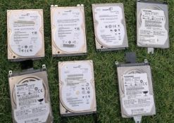 Job Lot Of Laptop Hard Drives Varios Sizes From 250Gb And Higher