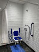 Contents of disabled shower room