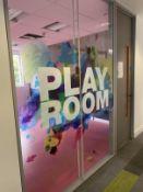 Double glazed soundproof Play Room window and door