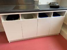 Recycling bin cupboards with 3 Bins.