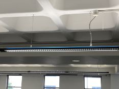 Modern Suspended strip lighting 10 sections.