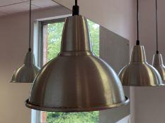 3 Brushed aluminium Hanging pendulum lights